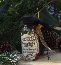 Yule Blessings. Enchanted Witchery. Yule Ritual Oil. Traditional Bayberry, Pine & Balsam. Winter Solstice.