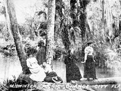 Florida Memory - Midwinter picnic at Blue Spring boil