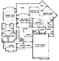 House plan ideas on pinterest house plans floor plans for House plans with keeping rooms