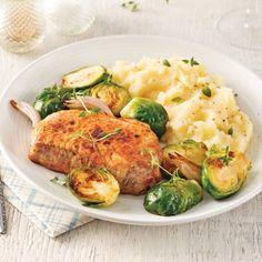 Filet de porc aux poires et vin rouge - 5 ingredients 15 minutes Orzo, Turkey, Dinner, Healthy, Recipes, Filets, Magazines, Photos, Meal Prep