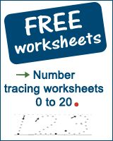 Free educational printable maths worksheets for preschoolers, kindergarten and toddlers