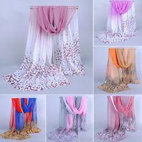 Fashion Women's Scarf Long Soft Leopard Print Chiffon Scarves Wraps Shawl Stole