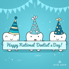 This National Dentist's Day, say thanks to your dentist for taking such good care of your pearly whites, and giving you a reason to smile wide after every visit. Happy National Dentist's Day! Dental Jokes, Dental Facts, Dental Life, Dental Health, Tips And Tricks, Invisalign, Dental Photos, Dentist Day, Emergency Dentist