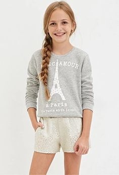 Forever 21 is the authority on fashion & the go-to retailer for the latest trends, styles & the hottest deals. Latest Fashion For Girls, Tween Fashion, Girl Fashion, Tween Mode, Outfits Niños, Sweater Shop, Tween Girls, Kids Shorts, Kind Mode