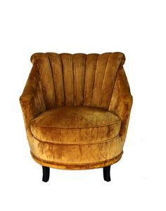 Little gold velvet chair.