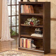 Signature Design by Ashley Furniture Hamlyn Medium 4-Shelf Bookcase in Medium…
