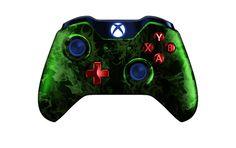 XboxOneController-GreenFire   Flickr - Photo Sharing! #xboxonecontroller #xbone #xbox1controller #customcontroller #moddedcontroller