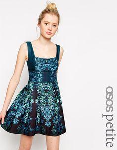ASOS PETITE Exclusive Debutante Mini Dress In Floral Print