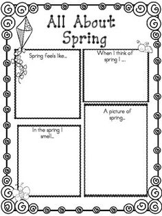 FREE Spring Graphic Organizer For Children - A great activity for students to practice their writing skills. #education