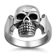 Stainless Steel Plain Skull Ring