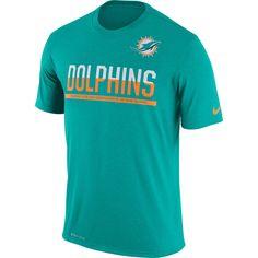 Men's Nike Aqua Miami Dolphins Team Practice Legend Performance T-Shirt