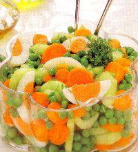 Ricette insalatone dietetiche light ricetta insalata con uova e verdure. Piatto unico o secondo piatto light