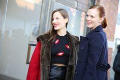 FW2014, New York Fashion Week, Fall/Winter 2014-2015, Emmanuelle Alt, Caroline de Maigret, Nadja Bender, Miroslava Duma, Anna Ewers, Giovann...