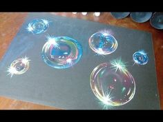 How to paint hyper realistic bubbles-acrylic painting tutorial - YouTube
