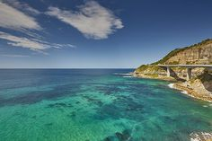 Scenic views of the Sea Cliff Bridge from the Royal National Park, Sydney