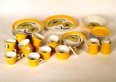 Vintage Mikasa Duplex by Ben Seibel Dishes- S/39 | Chairish