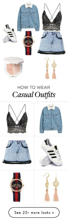 """Casual"" by chayes0walsh on Polyvore featuring Marc Jacobs, adidas and Gucci"
