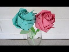 Origami rose instructions - an easy, step by step tutorial - EzyCraft - YouTube