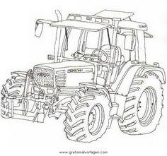 Tracteur colorier image imprimer 12 tracteur