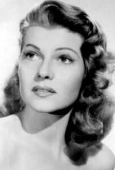 Rita Hayworth, 40s hairstyle. If only I had the patience to do my hair more.
