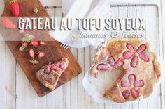 Une touche de rose: blog mode, photos, beauté, DIY, voyage, déco, cuisine: Gâteau au tofu soyeux bananes-fraises :: FOOD