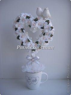 Бонсай топиарий ёлка Свадьба Моделирование конструирование Свадебное деревце Бисер Бусины Ленты фото 1: