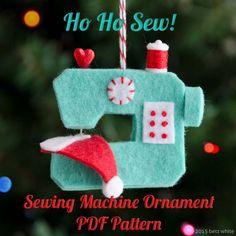 Adornos de Fieltro: Navidad Máquina de coser