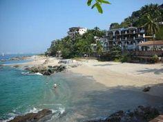 Conchas Chinas beach in Puerto Vallarta Mexico.