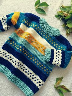Baby Boy Sweater, Baby Cardigan, Knitting Patterns Boys, Baby Knitting, Sweater Design, Sweater Outfits, Knitwear, Barbie, Colour