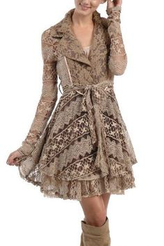 Women's Shabby Chic Fall Coat. Probly wouldn't keep you that warm... But its still extremely adorable