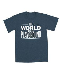 Another great find on #zulily! Heather Indigo World Is My Playground Tee - Toddler & Kids by KidTeeZ #zulilyfinds