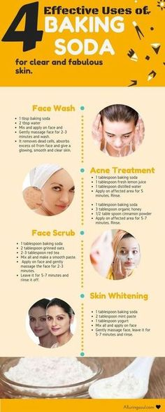 Natural & DIY Skin Care : baking soda for face – Baking soda for face can be a good option for getting rid of skin issues. Everyone's dream is to get a clear and beautiful skin. -Read More – Acne Treatment, Skin Treatments, Cosmetic Treatments, Beauty Care, Beauty Hacks, Beauty Secrets, Diy Beauty, Beauty Products, Skin Care Products