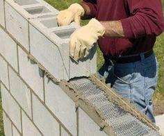 DIY Cinder Block Wall                                                       …