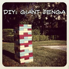 Ryan is going to make us giant-adult-jenga for our rustic outdoor wedding!  How FUN :)