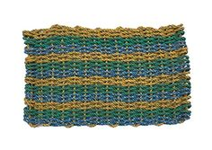100% Recycled Lobster Rope Mat- The North Yarmouth. All of our lobster rope doormats are made from 100% REclaimed Maine Lobster Rope from lobster traps along Maine's Rocky Coast. These doormats make the perfect gift and will last forever! Seriously, it will be the last doormat you will ever buy! Unless of course you like a new and different pattern! If they can last almost a decade of wear and tear in the Atlantic Ocean, they will hold up on your porch or patio! As a 1% For The Planet…