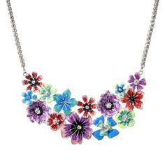 Target Mobile Site - Prabal Gurung For Target® Cluster Flower Bib Necklace - Multicolor