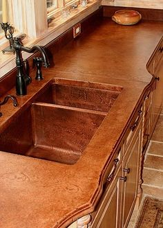 Concrete counter top and sink. i will have this someday!