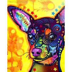 Dean Russo Watermark Dog Print - Chihuahua #2