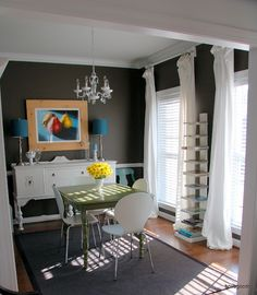 bovagoods: ikea goods: how i made my dining room drapes - Love the IKEA Lenda curtain transform and the COLOR of the room - yum!