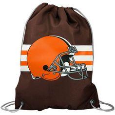 Cleveland Browns Brown Team Logo Drawstring Backpack - $9.99