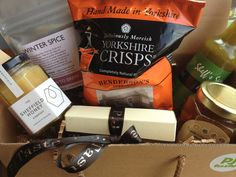 Delicious goodies in our gift hampers