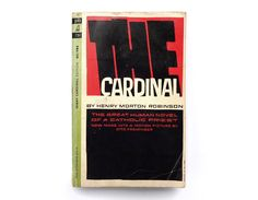 """Saul Bass book cover design, 1964. """"The Cardinal"""" by Henry Morton Robinson by NewDocuments on Etsy"""