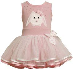 Bonnie Baby-girls Newborn Bunny Applique Tutu