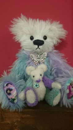 Check out this item in my Etsy shop https://www.etsy.com/uk/listing/478686725/flower-mohair-jointed-artist-bears-pansy