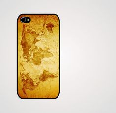 Rubber Case vintage world map iphone 4s/4 case by geekdeco on Etsy, $13.99