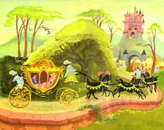 Rhetta Scott double page illustration | Walt Disney Golden Book 'Cinderella' (1950)