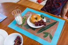 I love this DIY natural placement by @kindercare. This would make a great holiday craft idea. I would love to see a Thanksgiving table set up with DIY placemats. #sponsored