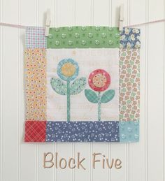 Bloom Sew Along Block 5 - Lori Holt shows us how to put together this adorable applique block! #iloverileyblake