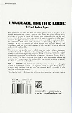 Language, Truth and Logic (Dover Books on Western Philosophy)