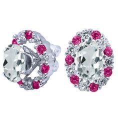 Statement Earrings, Ruby and Diamond Ear Jacket Studs, Bridal stud ear jacket Double Side earring, natural gemstone stud earrings wedding     Elegant Art Deco Oval Cut Earring Jacket Studs    .925 Sterling Silver    1.25 ct    cubic Zirconia Diamonds    Made Upon Order    Please Allow Up to Two Weeks Production Time | Shop this product here: http://spreesy.com/BodyKandyCouture/742 | Shop all of our products at http://spreesy.com/BodyKandyCouture    | Pinterest selling powered by…
